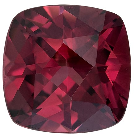 Striking Rhodolite Garnet Cushion Shaped Gemstone, 2.14 carats, 7.2 x 7.2mm - A Wonderful Find!