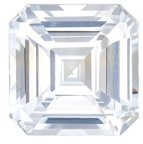 Striking White Sapphire Asscher Shaped Gem with GIA Cert, 8.51 carats, 10.87 x 10.8 x 7.31 mm - Truly Stunning