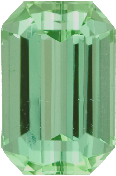 Strking Color in Unheated Light Mint Green Octagon Tourmaline, 11.1 x 8.2mm, 4.82 carats
