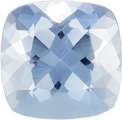 Strong Blue Aquamarine Genuine Nigerian Gem in Antique Square Cut, 5.1 mm, 0.50 Carats