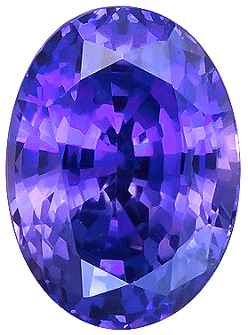 Strong Color Change Blue and Purple Sapphire, AGTA Cert,  Oval Cut, 3.86 carats