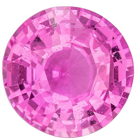 Strong Color in Small Size  Round Cut Loose Pink Sapphire Gemstone, 1.1 carats, 6.2 mm , A Must Have Gem