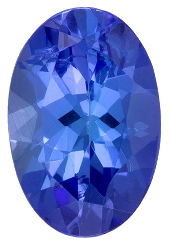 Low Price on Top Gem  Blue Purple Tanzanite Genuine Gemstone, 0.46 carats, Oval Shape, 6 x 4 mm