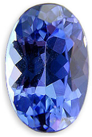 Strong Purple with Scintillating Brilliance Tanzanite Gemstone 1.72 carats