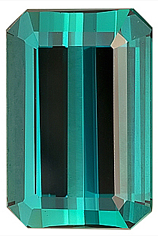 Strong Vivid Blue Color Tourmaline Natural Gemstone for SALE, Octagon Cut, 12.6 x 10.1 mm, 6.22 carats