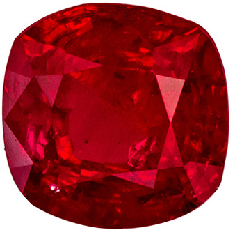 Stunning 0.52 carat Ruby Cushion shaped gemstone, 4.6 mm