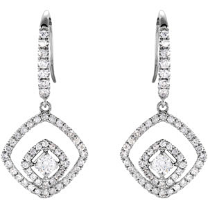 Stunning 0.75 carat total weight 2.70 mm Diamond Earrings skillfully set in 14 karat White Gold for SALE