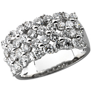 Stunning Alluring 2.00 Carat Total Weight Fine 2.20 mm Diamond Gold Ring set in 14 karat White Gold