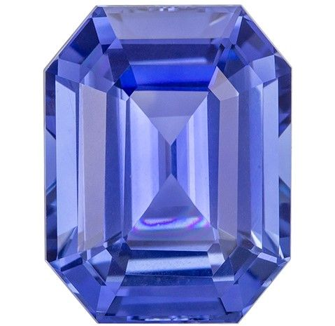 Stunning Blue Sapphire Emerald Shaped Gem with GIA Cert, 5.43 carats, 11.2 x 8.73 x 5.72 mm - Super Great Buy