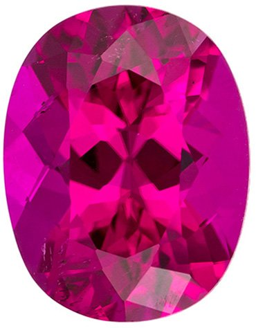 Stunning Brilliance in Hot Fuchsia Pink Tourmaline Gem in Oval Cut, Rich Fuchsia Pinkish Red Color in 9.2 x 7.1 mm, 2.18 carats