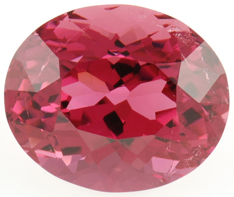 Stunning Color in Fiery Rose Colored Tourmaline Gemstone 20.81 carats