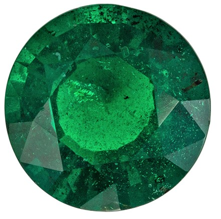 Stunning Emerald Gemstone, 2.07 carats, Round Shape, 8.5 mm, Unusual Find