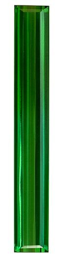 Stunning Gem in 32 x 4.6 mm Tourmaline Loose Genuine Gemstone in Emerald Cut, Medium Green, 4.55 carats