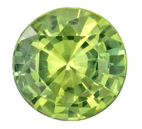 Stunning Gem in 6.1 mm Sapphire Loose Gemstone in Round Cut, Minty Green, 0.93 carats