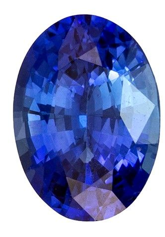Stunning Gem in 6.9 x 5 mm Sapphire Loose Genuine Gemstone in Oval Cut, Medium Blue, 0.98 carats