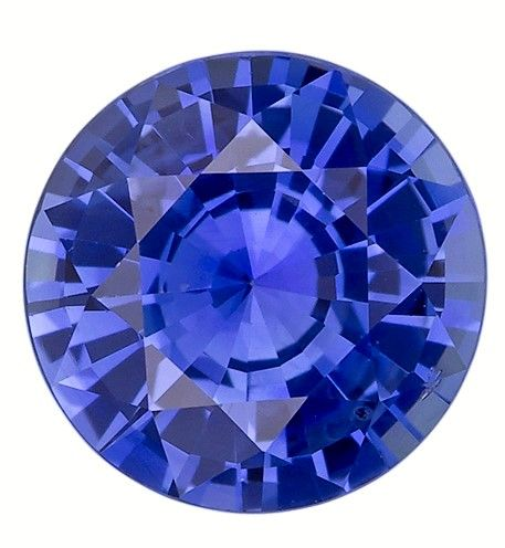 Stunning Gem in 8.5 mm Sapphire Loose Gemstone in Round Cut, Vivid Blue, 2.77 carats