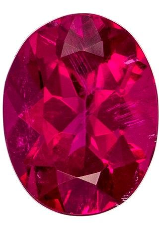 Stunning Gem in 9 x 6.9 mm Tourmaline Loose Gemstone in Oval Cut, Rich Fuchsia, 1.71 carats