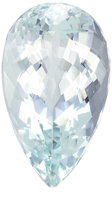 Stunning Gem in Blue Aquamarine Pear Cut, 12 carats, 20.8 x 12.2 mm