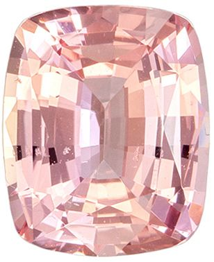 Stunning Gem in Padparadscha Sapphire Cushion GIA Certed No Heat, 1.19 carats, 6.91 x 5.67 x 3.31 mm