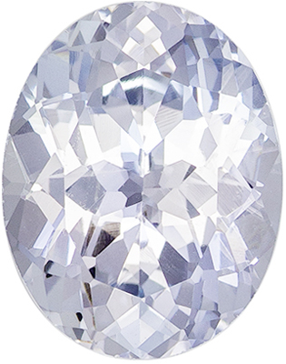 Stunning Gem in White Sapphire Oval Cut, 3.49 carats, 10.5 x 8.2 mm