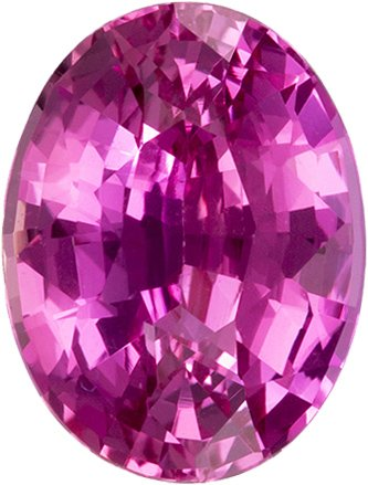 Stunning GIA Certified Oval Cut Pink Sapphire Loose Gem, Classic Rich Pink, 8.6 x 6.5 mm, 2.04 carats