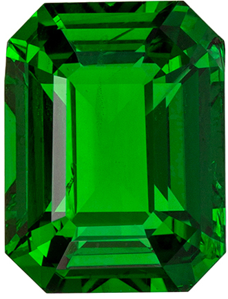 Stunning Green Tsavorite Garnet 2.52 carats, Emerald shape gemstone, 8.2 x 6.2  mm