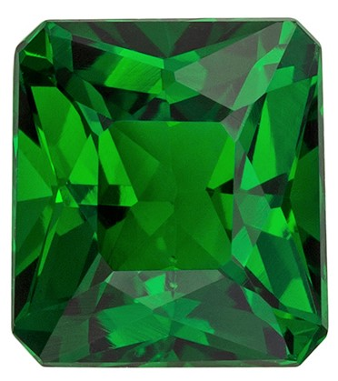 Stunning Green Tsavorite Gemstone, 2.16 carats, Radiant Shape, 7.4 x 6.7 mm, Super Fine Gem!
