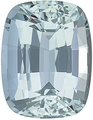 Stunning Medium Nice Blue Unheated Brazilian Blue Aquamarine - Great Outline & Shape, Antique Cushion Cut, 10.34 carats