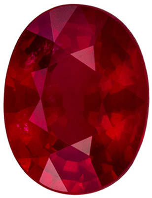 Great Buy in Loose 1.58 carats Ruby Loose Gemstone in Oval Cut, Rich Red, 7.8 x 6 mm