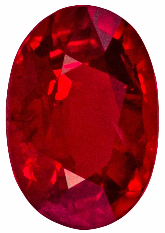 Stunning Natural 0.67 carat Ruby Oval shaped gemstone, 6 x 4.2 mm