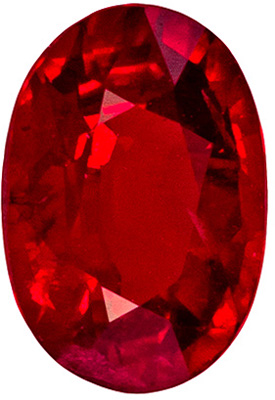Fine Quality AAA+ Stunning Natural 0.67 carat Ruby Gemstone in Oval Cut, 6.0 x 4.2 mm Calibrated Size