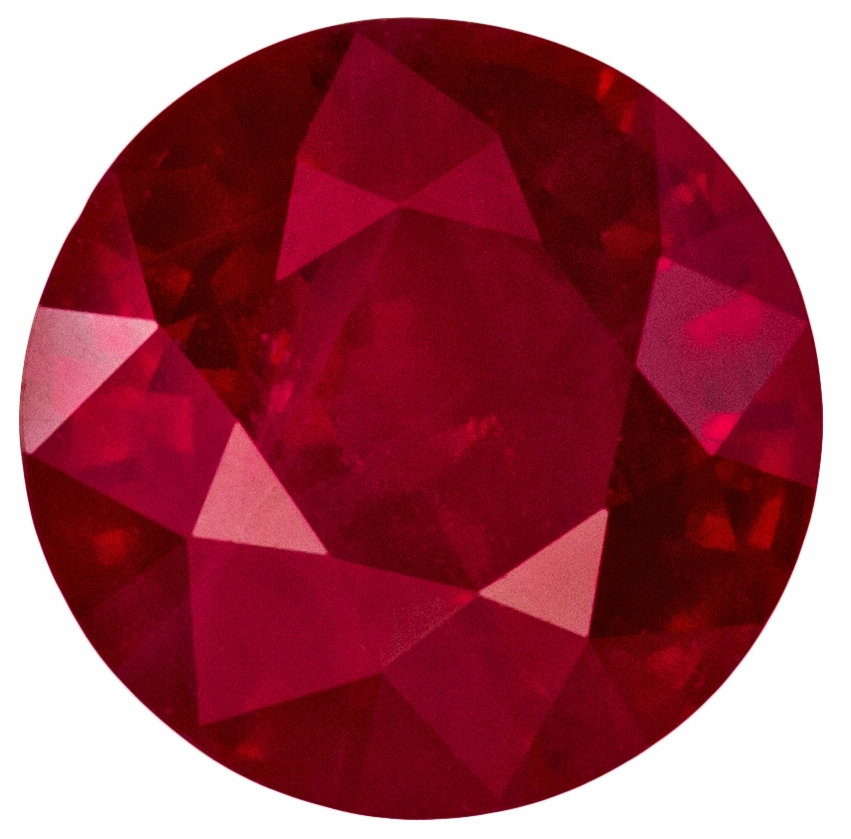 Stunning Natural 1.27 carat Ruby Round gemstone, 6.4 mm, A Great Buy