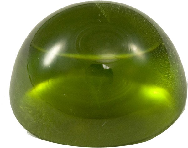 Stunning Oval Cabochon Peridot Gem in RIch Bright Green Color, Exceptional, 22.1 x 19 mm, 45.79 carats