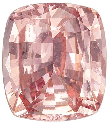 Stunning GIA Padparadscha Sapphire Unheated Gemstone, 1.12 carats, Cushion Shape, 6.19 x 5.45 x 3.4 mm, A Wonderful Find