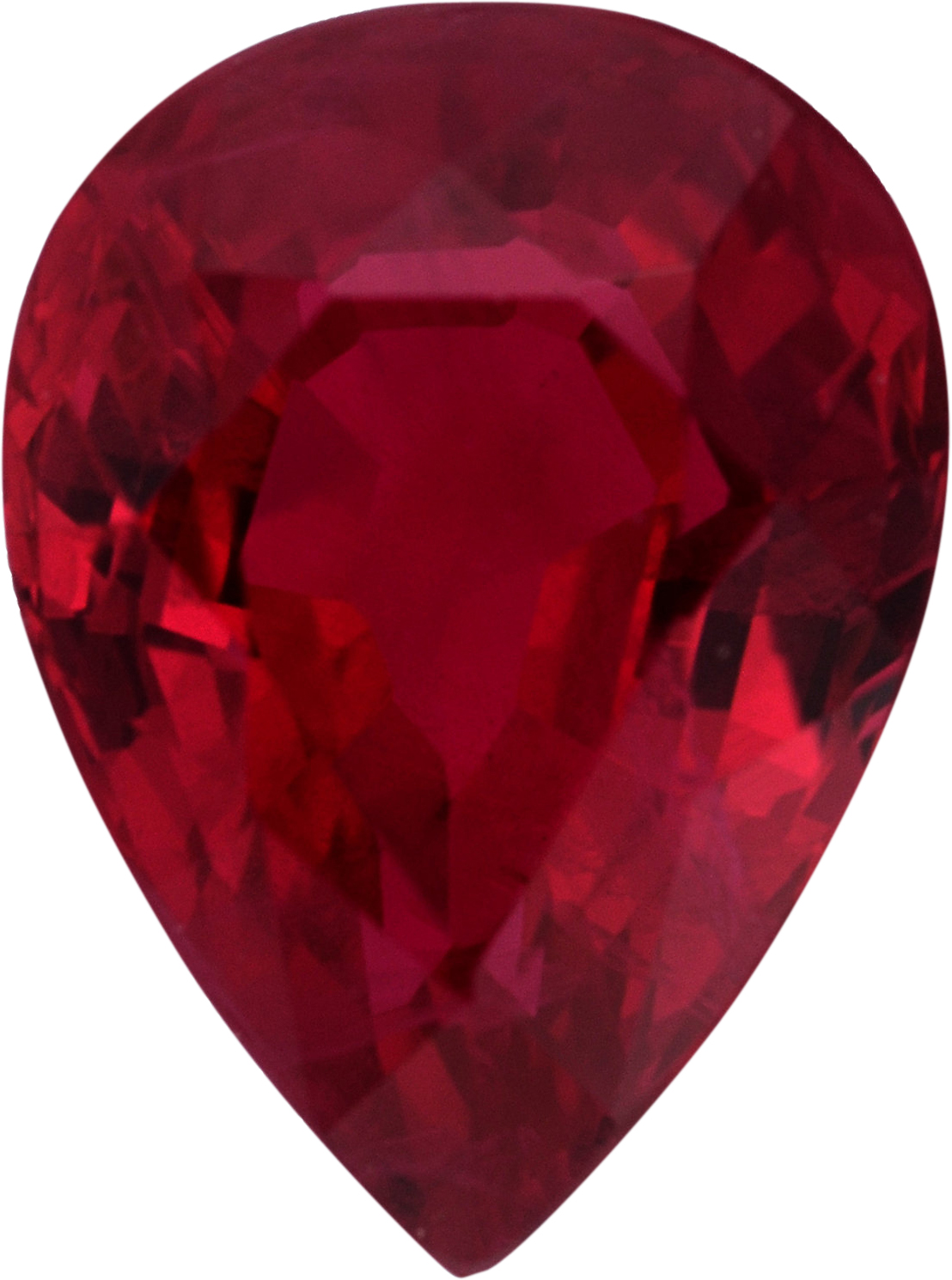 Stunning Pear Shape Loose Ruby Gem,  Red Color, 8.08 x 6 mm, 1.62 carats
