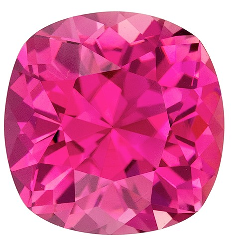 Stunning Pink Tourmaline Gemstone, 4.06 carats, Cushion Shape, 9.8 x 9.7 mm, Super Great Buy