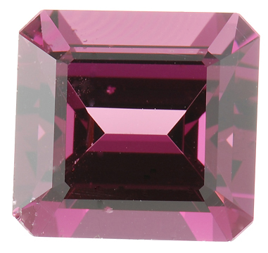 Stunning Pinkish Red Raspberry Rhodolite Garnet Gemstone, Emerald Cut, 9.18 carats