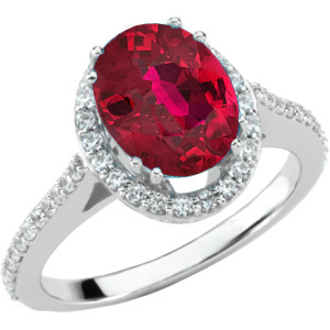 Stunning RED Genuine 1.25ct Genuine Fiery Ruby of Superb Quality set in Diamond Gold Ring for SALE