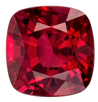 Stunning Red Spinel Gemstone, 1.17 carats, Cushion Shape, 6.2 x 6 mm, Great Colored Gem