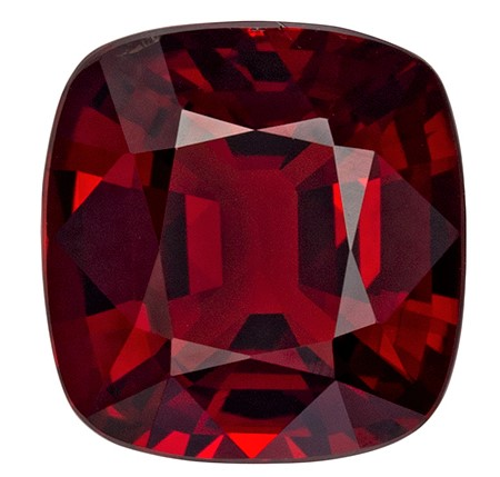 Stunning Red Spinel Gemstone, 1.78 carats, Cushion Shape, 7.6 x 7.2 mm, A Natural Wonder