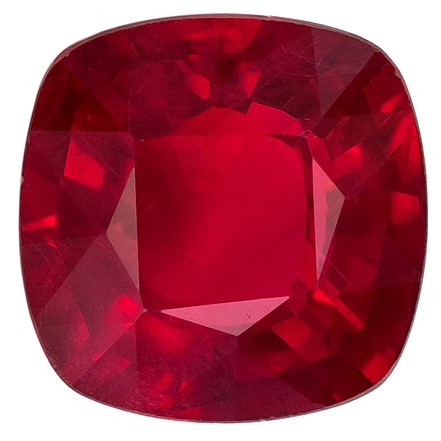 Stunning Ruby Cushion Shaped Gemstone, 1.34 carats, 6.3mm - Low Price