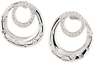 Stylish 0.40 carat total weight 1.00 mm Diamond Earrings skillfully set in 14 karat White Gold for SALE