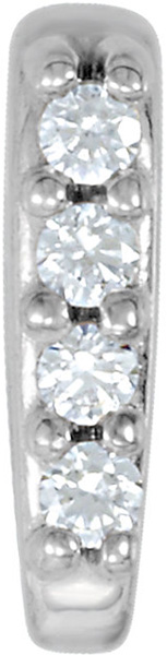 Stylish 14kt Gold Diamond Accented Preset Tapered Bail - Choose Metal Type & Inside Bail Dimension