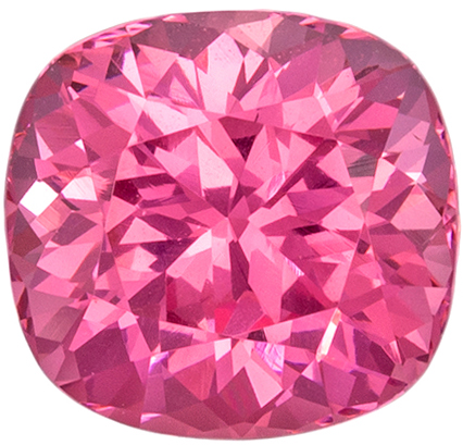 Deal on Super Attractive Spinel Genuine Gem, Cushion Cut, Peachy Pink, 1.25 carats , 6.4 x 6 mm