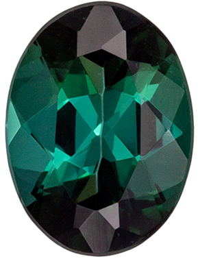 Super Blue Green Tourmaline Loose Gem, 7.9 x 5.9 mm, Teal Blue Green, Oval Cut, 1.19 carats
