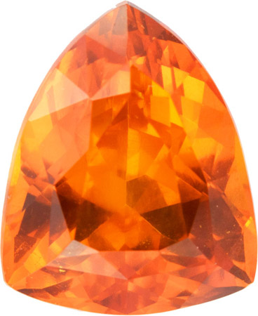 Bright Delicious Namibian Spessartite Garnet Gem in Shield Cut, 3.38 carat