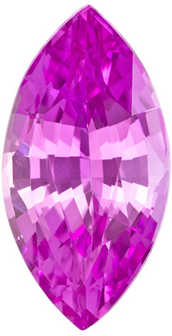 Super Bright Pure Pink Sapphire Loose Gem in Marquise Cut, 9.2 x 4.7 mm, 1.24 carats