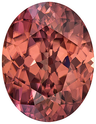 Super Bright, Well Cut Tanzanian Brown Zircon - Very Crisp & Lively Medium Brown Color, Oval Cut, 11.29 carats