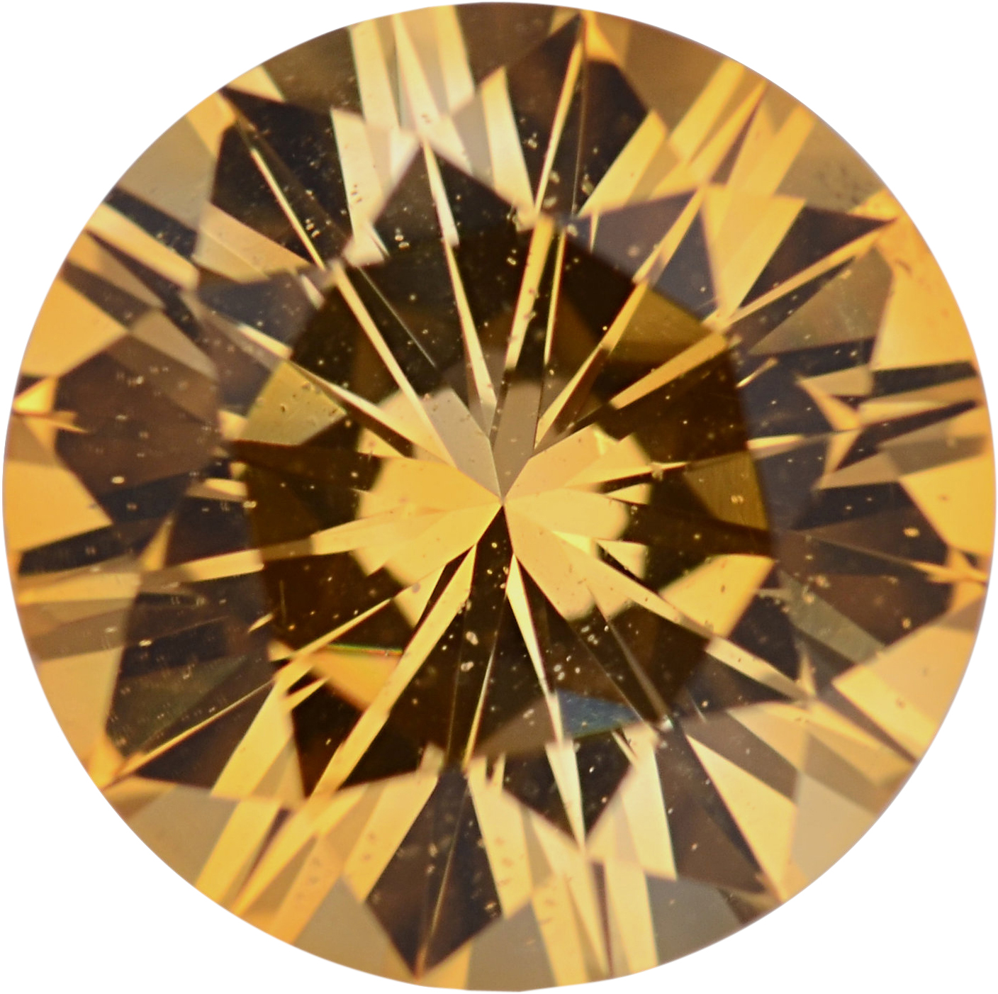 Super Deal On Sapphire Loose Gem in Round Cut, Light Orangy Yellow, 6.81 mm, 1.36 Carats