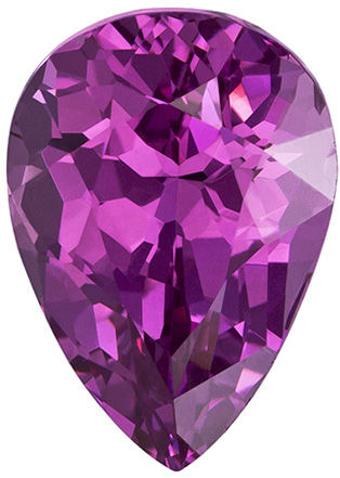 Super Eye Catching 1.65 carats Pink Spinel Gemstone in Pear Cut, Rich Pure Pink Color